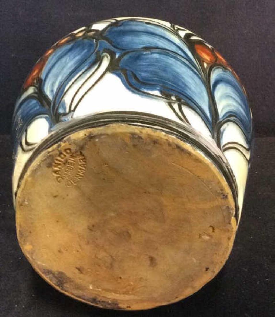 DANICO Hand Painted Ceramic Vase, Denmark - 8