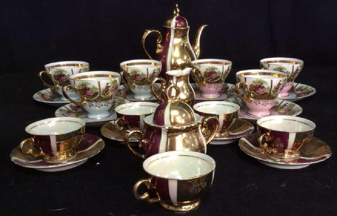 Lot 25 Mother Of Pearl & Porcelain Tea Set