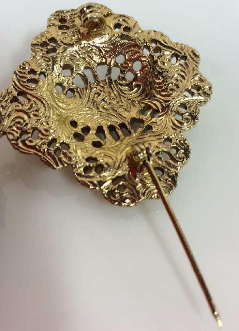 Women's Costume Jewelry Brooch Pin - 5