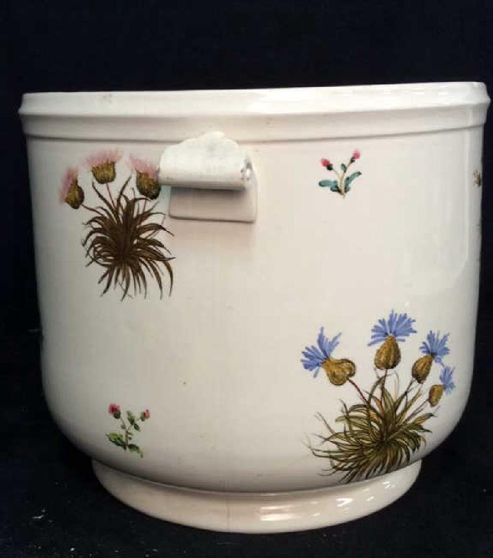 Italian Painted Floral Ceramic Planter Tiffany - 3