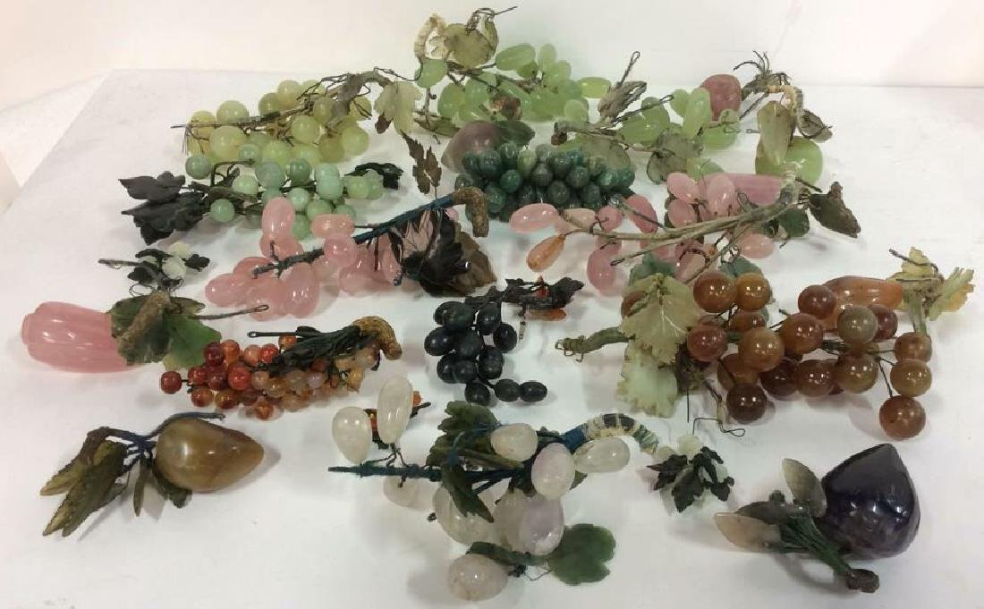 Lot 19 Multi Toned Assorted Soapstone Fruit
