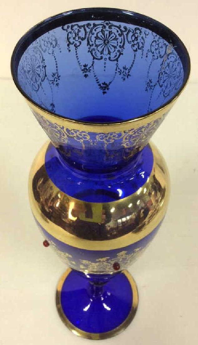 Cobalt Blue & Gold Toned Vase