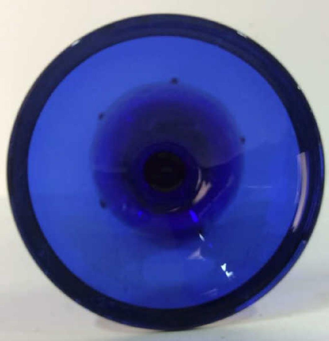 Cobalt Blue & Gold Toned Vase - 6