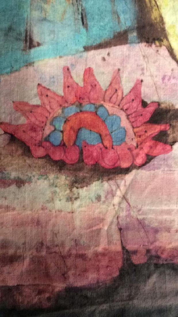 Batik Fabric Floral Vase Design - 4
