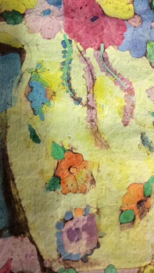 Batik Fabric Floral Vase Design - 5