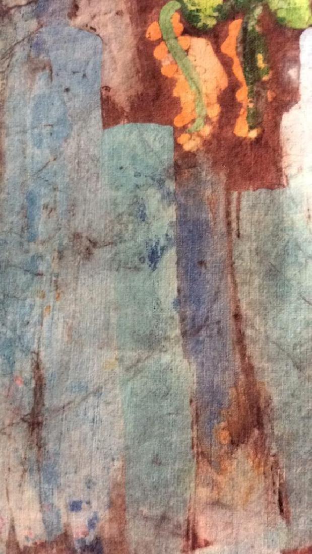Batik Fabric Floral Vase Design - 7