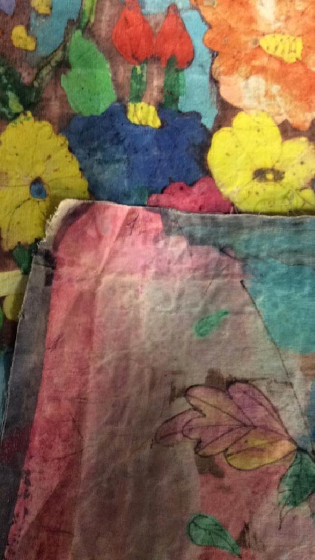 Batik Fabric Floral Vase Design - 9