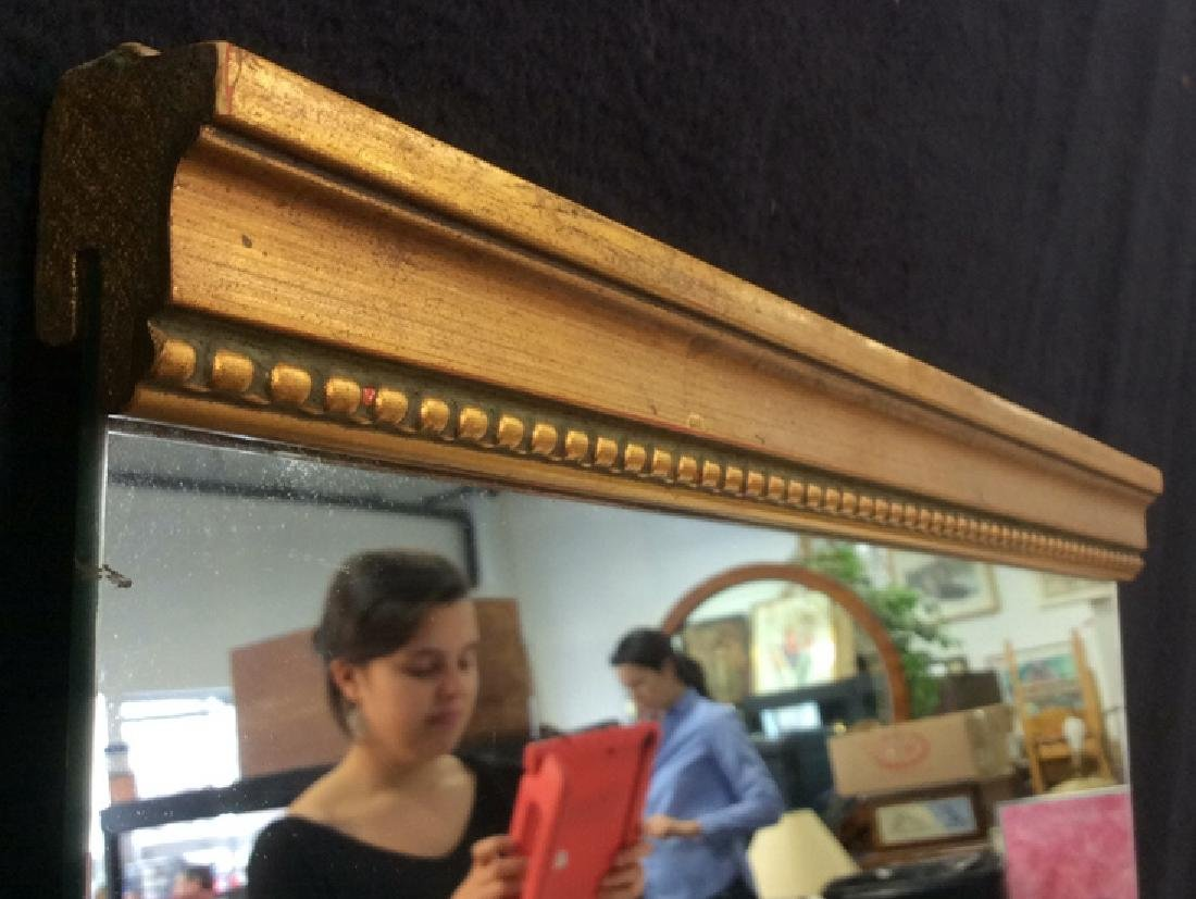 Gold Toned carved Wood Framed Mirror - 5