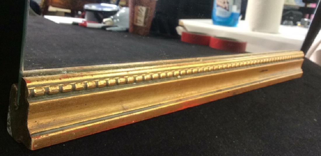 Gold Toned carved Wood Framed Mirror - 6