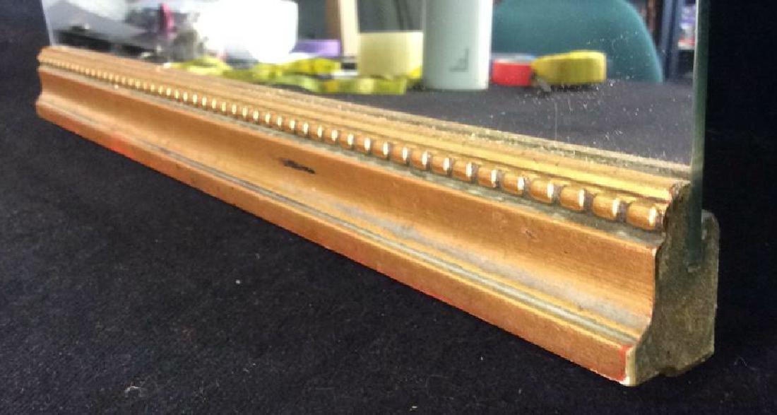 Gold Toned carved Wood Framed Mirror - 8