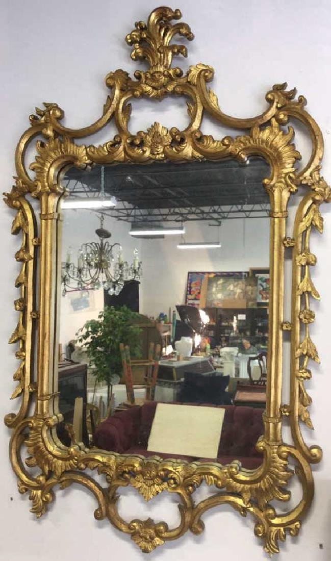 Ornate Louis XV Style Carved Gold Leafed Mirror - 5