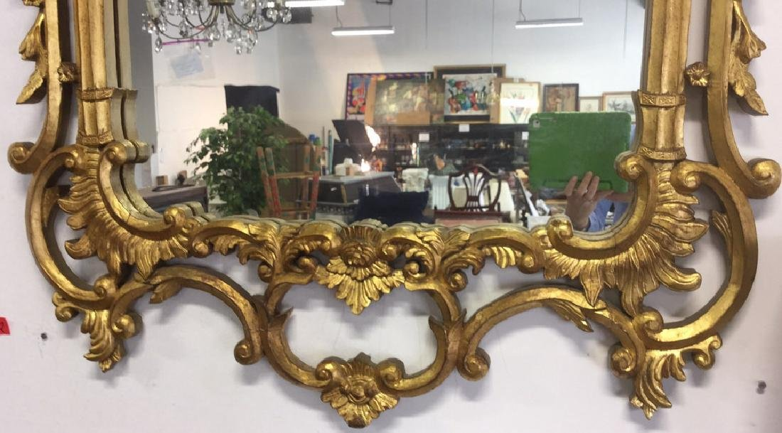 Ornate Louis XV Style Carved Gold Leafed Mirror - 6
