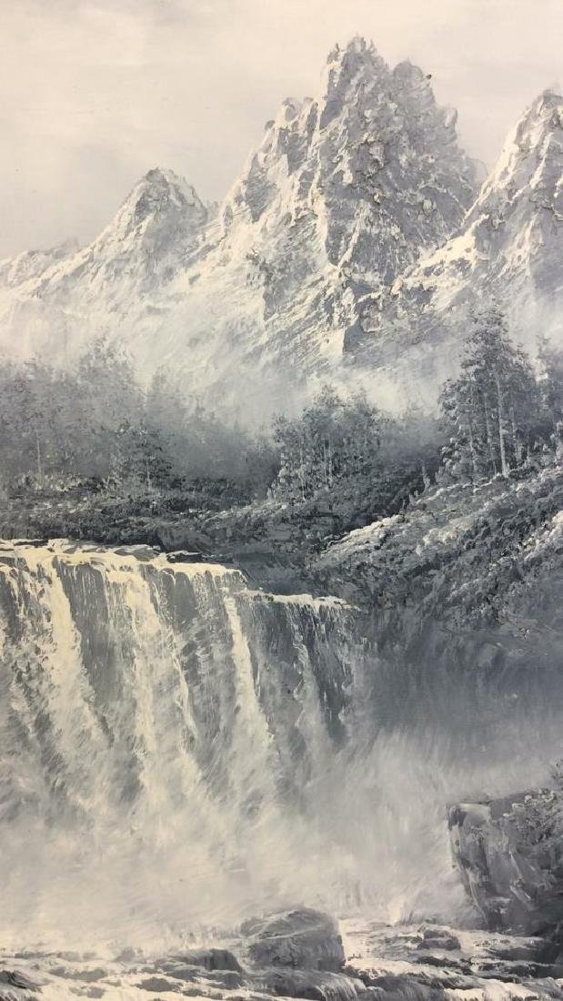 Framed Scenic Landscape Painting on Canvas - 4