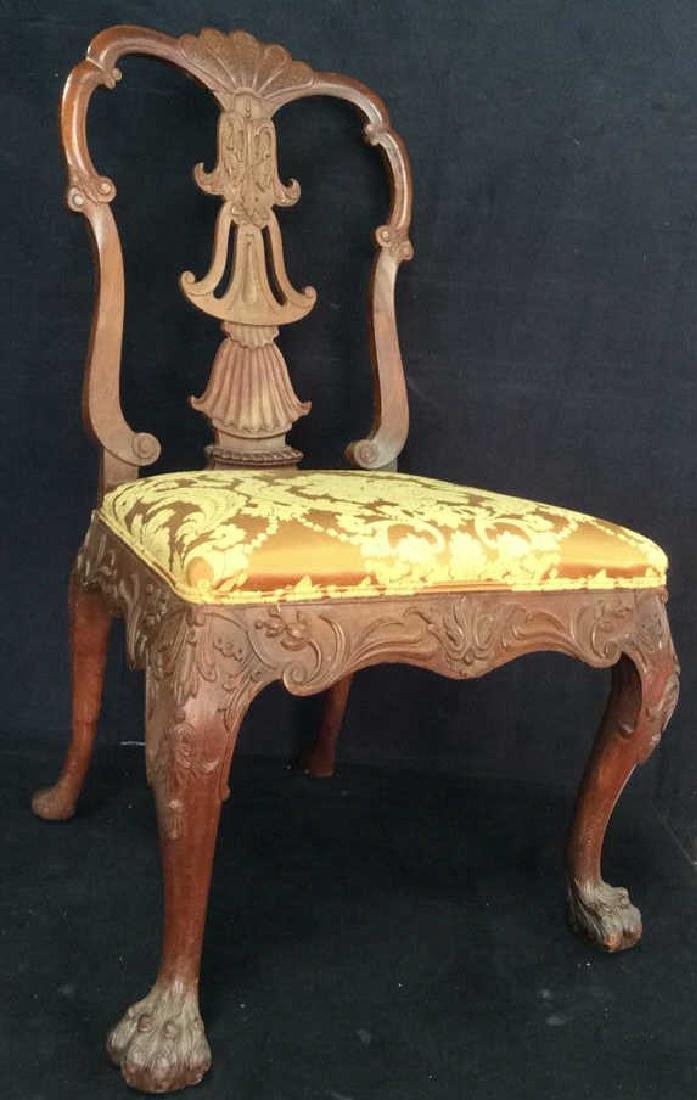 English Chippendale Style Carved Wood Side Chair - 2