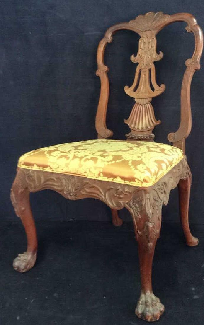 English Chippendale Style Carved Wood Side Chair - 3
