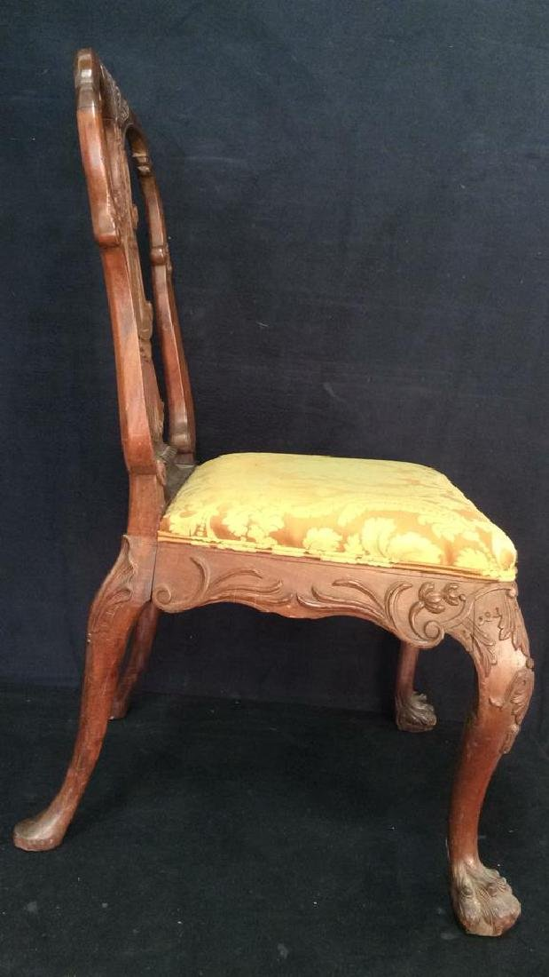 English Chippendale Style Carved Wood Side Chair - 4