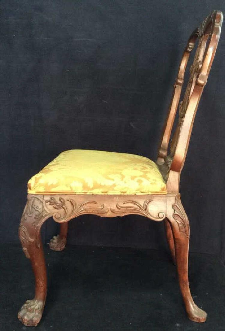 English Chippendale Style Carved Wood Side Chair - 5