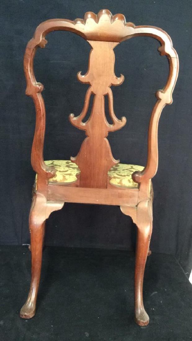English Chippendale Style Carved Wood Side Chair - 6