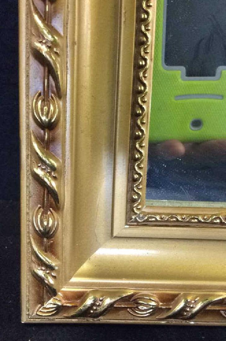 Gold Toned Frame Wooden Wall Mirror - 10