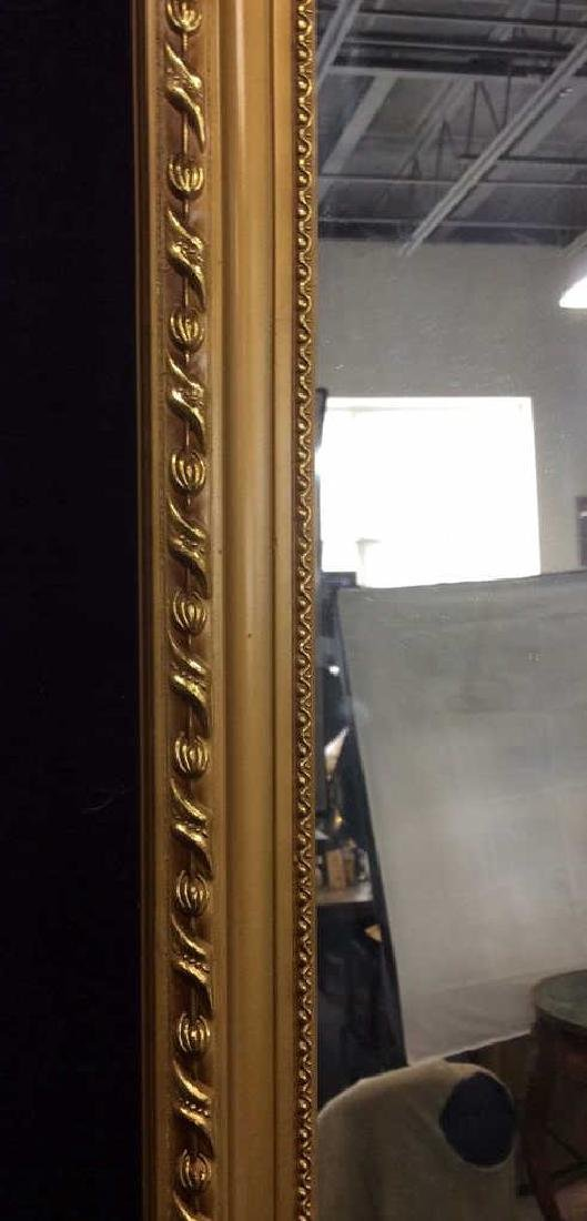 Gold Toned Frame Wooden Wall Mirror - 4
