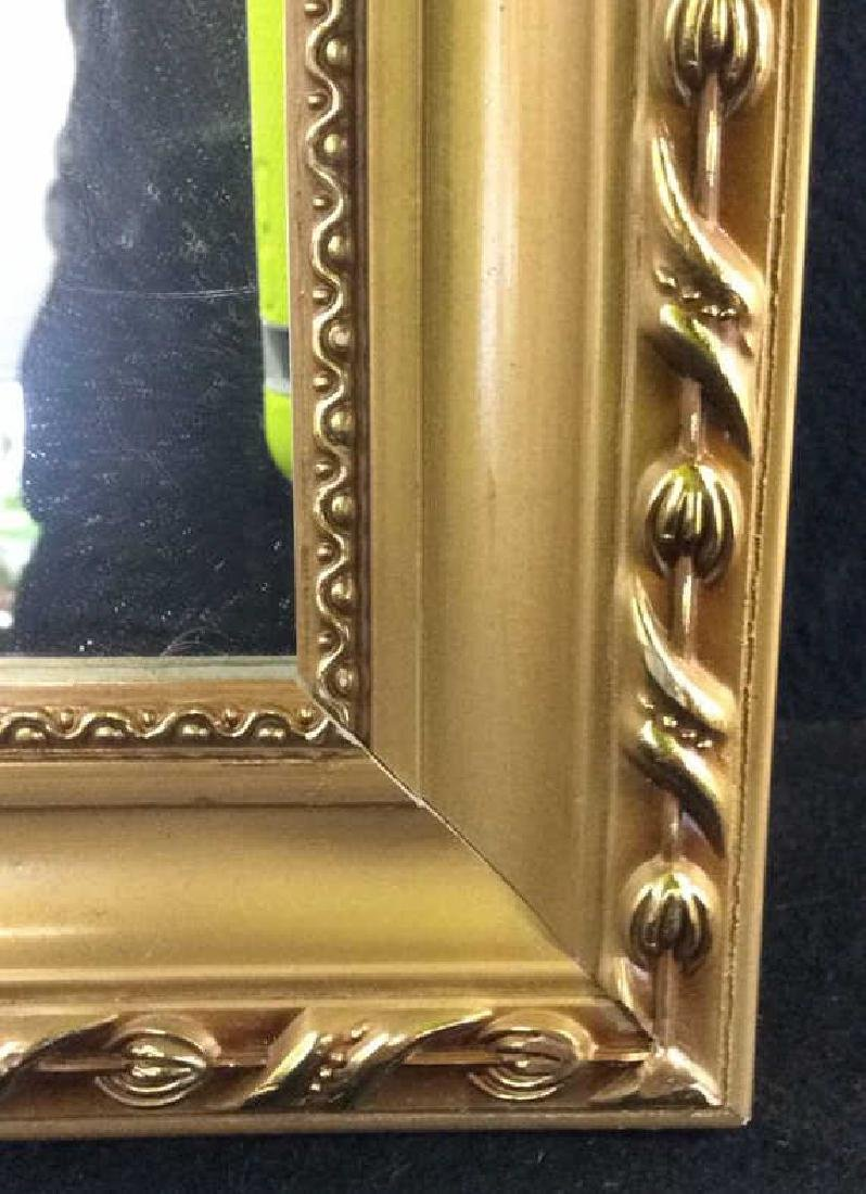 Gold Toned Frame Wooden Wall Mirror - 9
