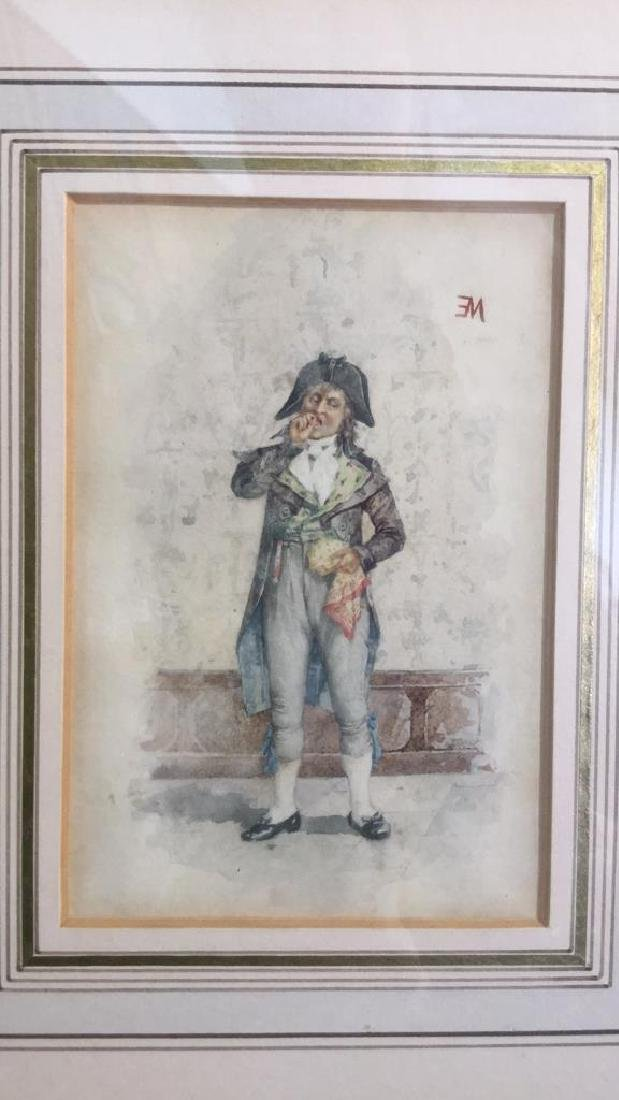 Antique Painting Portrait Of E Meissonier, French - 10