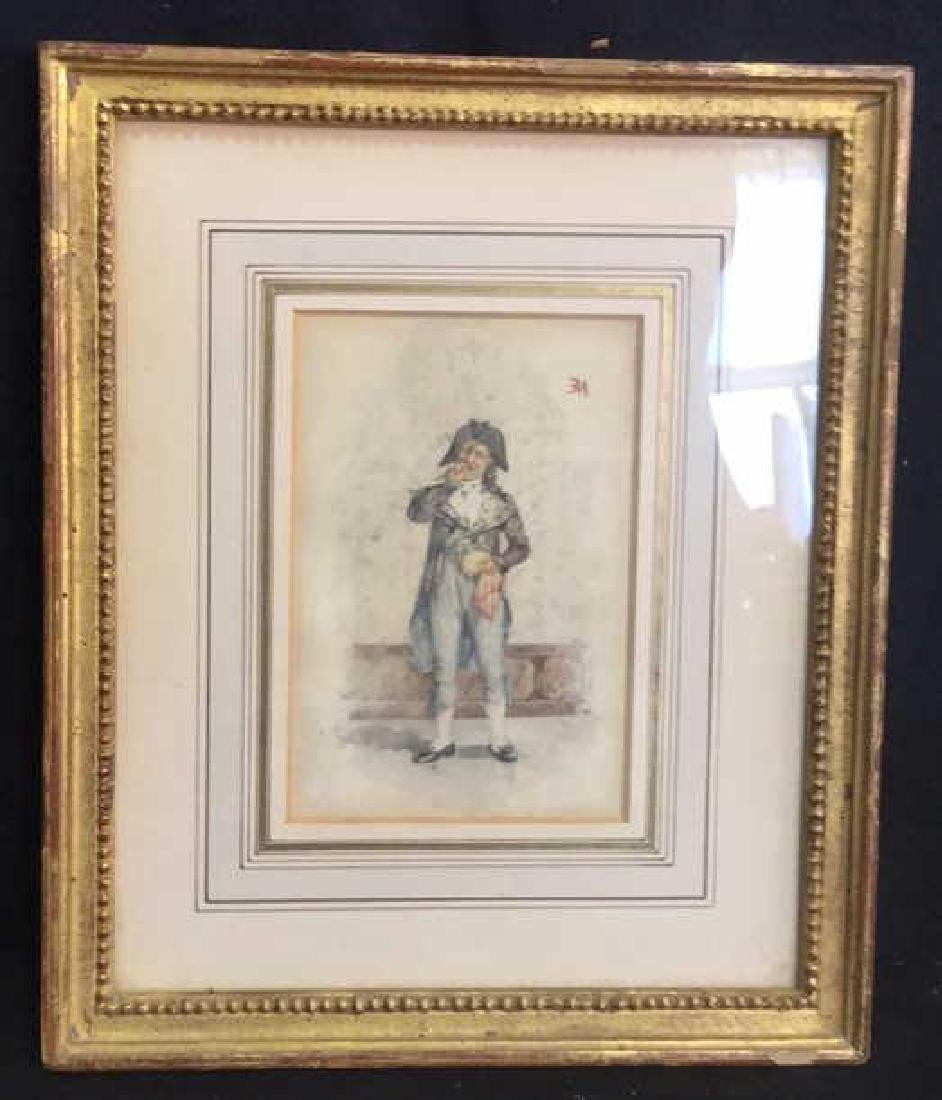 Antique Painting Portrait Of E Meissonier, French