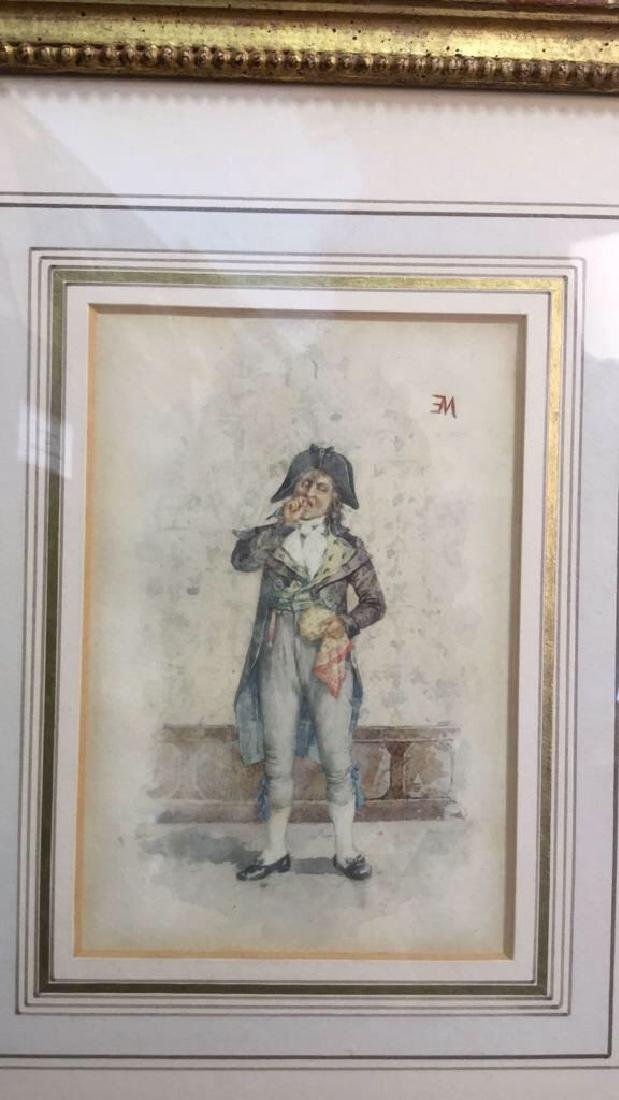 Antique Painting Portrait Of E Meissonier, French - 2