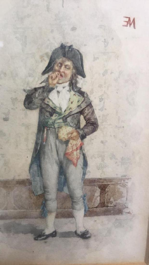 Antique Painting Portrait Of E Meissonier, French - 4