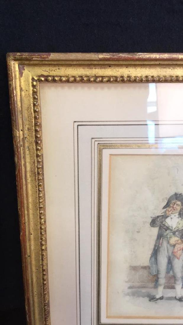Antique Painting Portrait Of E Meissonier, French - 9