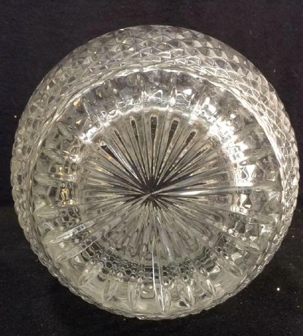 Intricately Cut Crystal Vase - 10