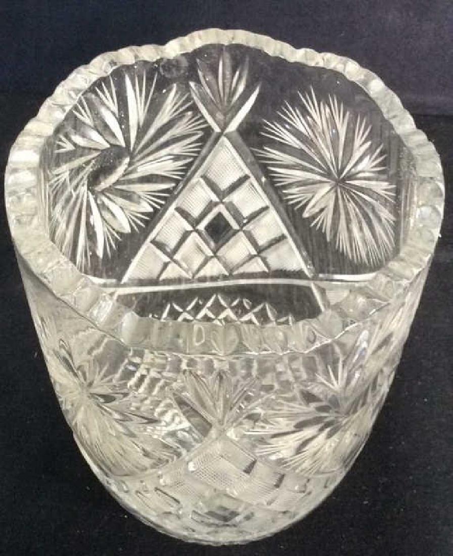 Intricately Cut Crystal Vase - 4