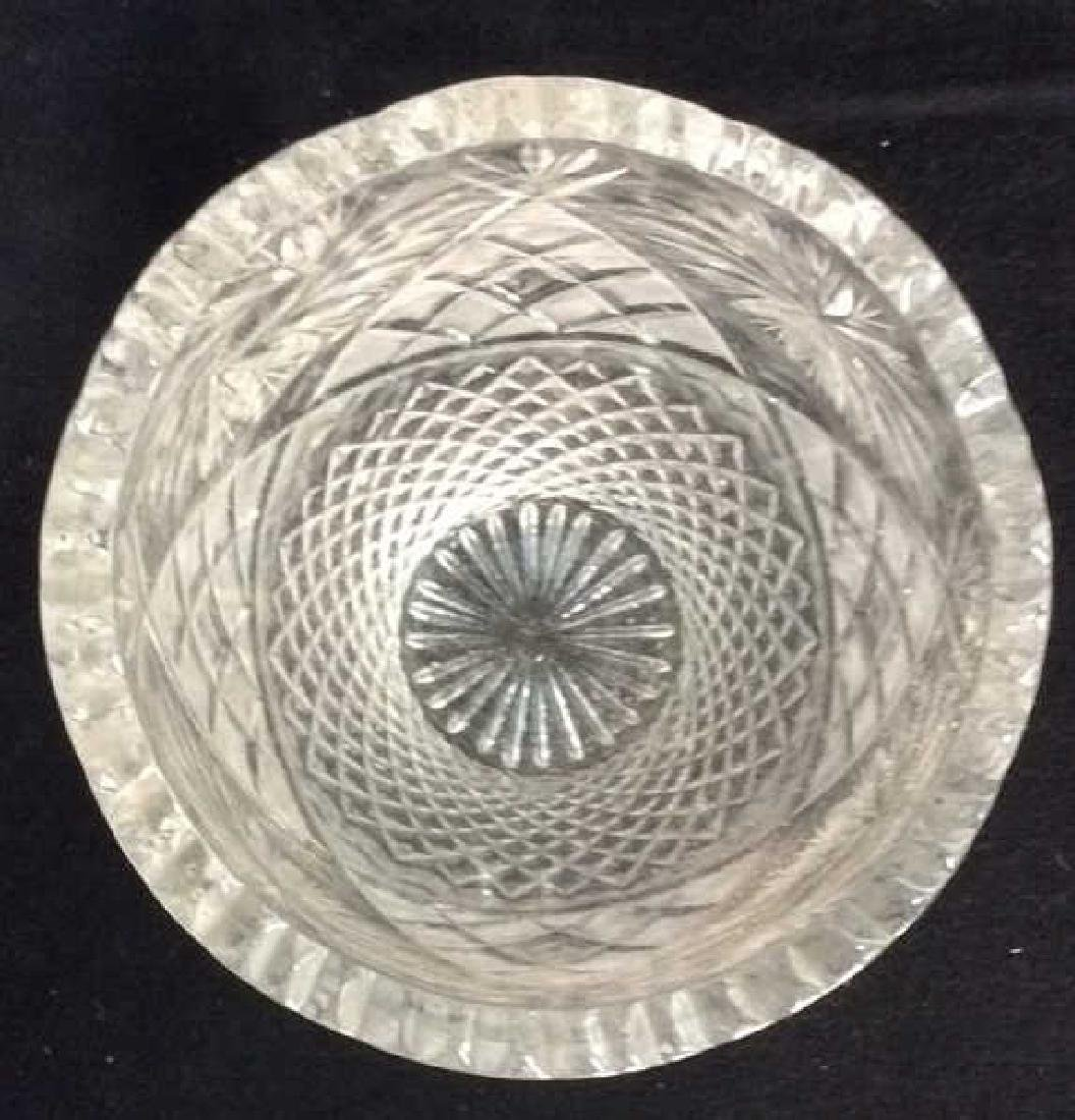 Intricately Cut Crystal Vase - 5