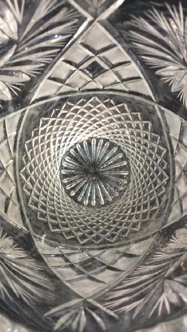 Intricately Cut Crystal Vase - 6