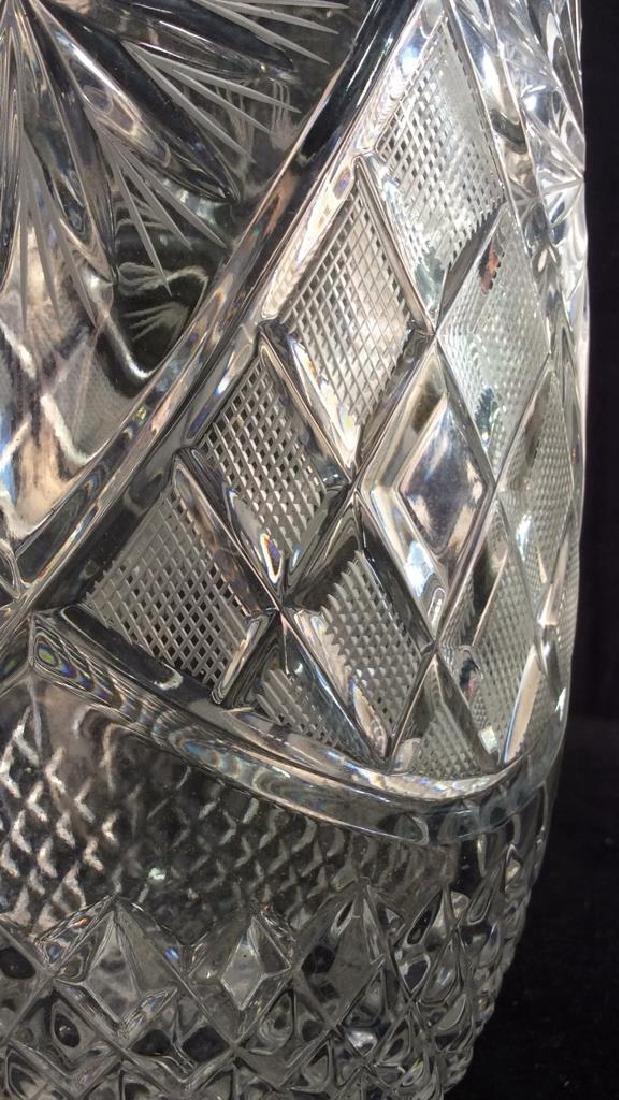 Intricately Cut Crystal Vase - 8