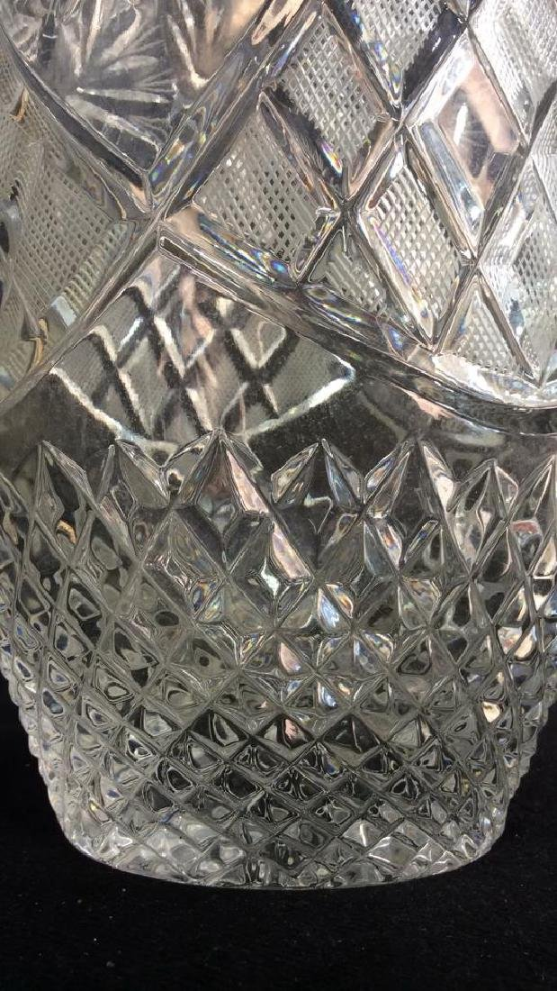 Intricately Cut Crystal Vase - 9