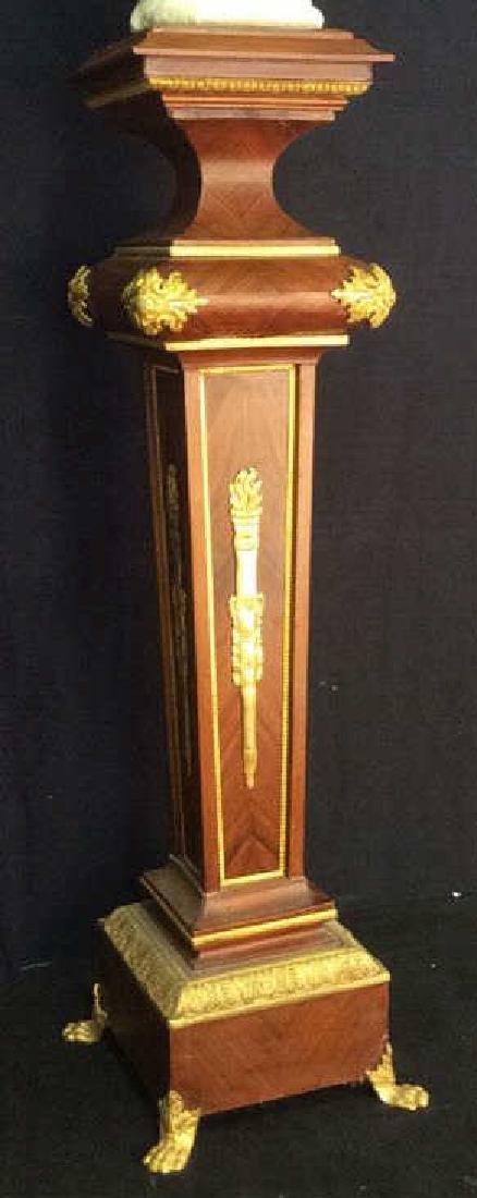 Ormolu detailed Wooden Pedestal Column