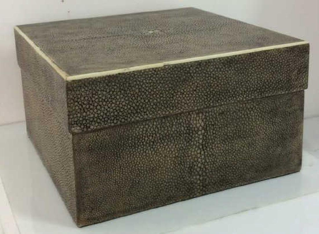 R&Y AUGOUSTI Shagreen Wooden Jewelry Box