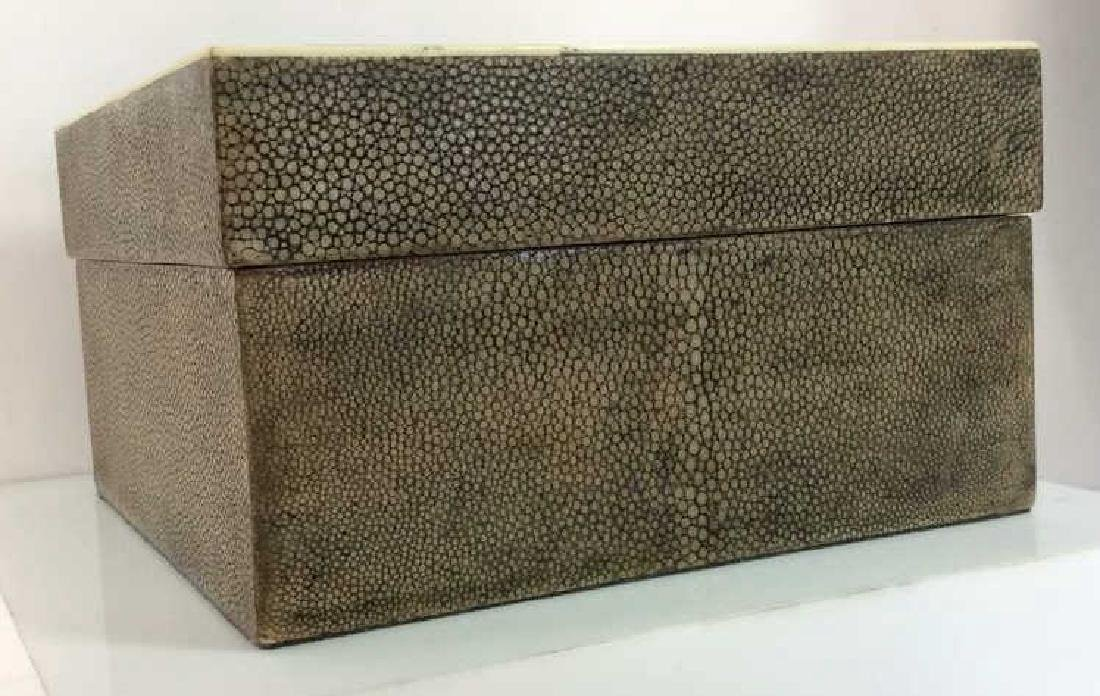 R&Y AUGOUSTI Shagreen Wooden Jewelry Box - 3