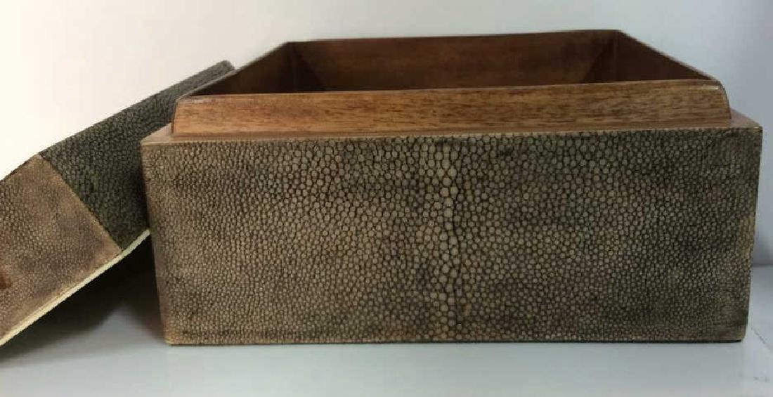 R&Y AUGOUSTI Shagreen Wooden Jewelry Box - 6
