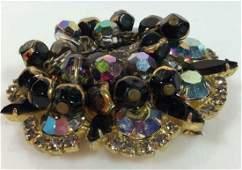 Womens Costume Jewelry Rhinestone Brooch Pin