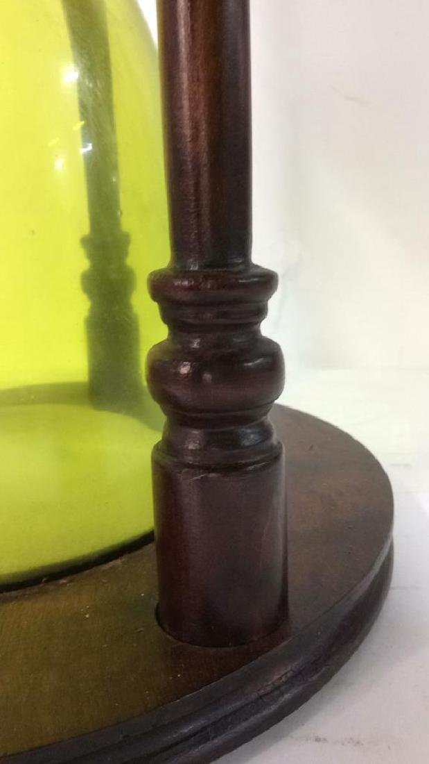 Carved Wooden Hourglass Side Table - 5