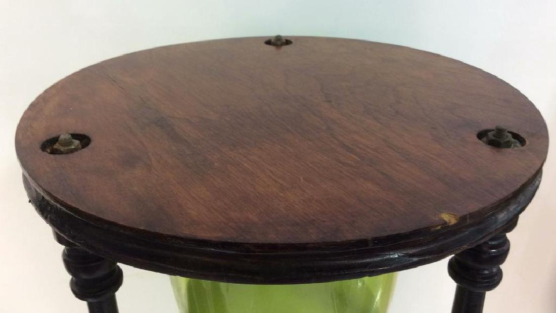 Carved Wooden Hourglass Side Table - 7