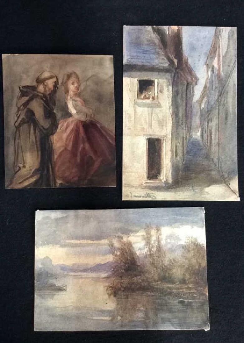 Lot 3 Abel Damourette Watercolor Paintings