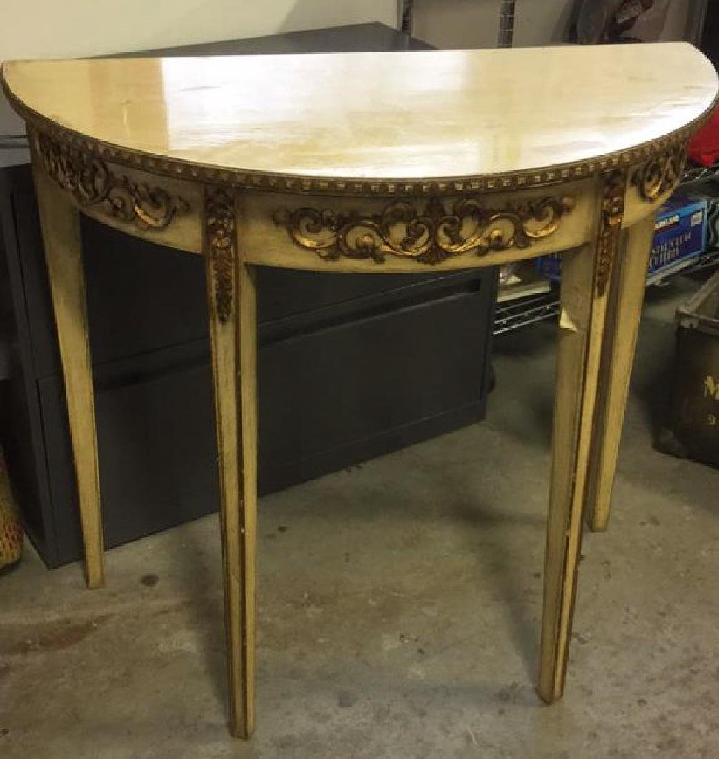 French Style Demi-Lune Console Table