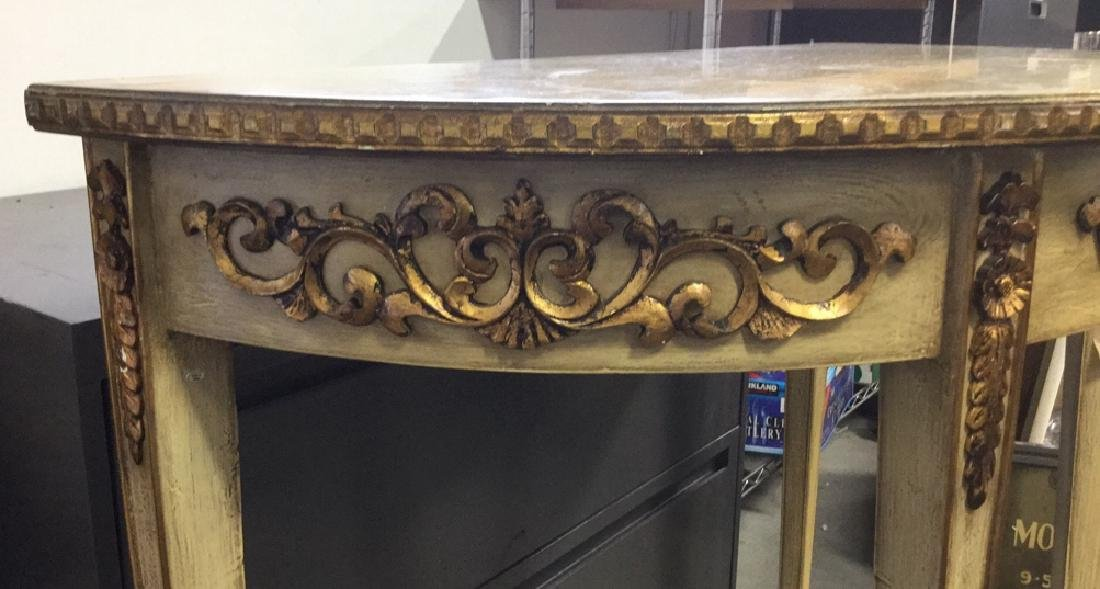 French Style Demi-Lune Console Table - 7