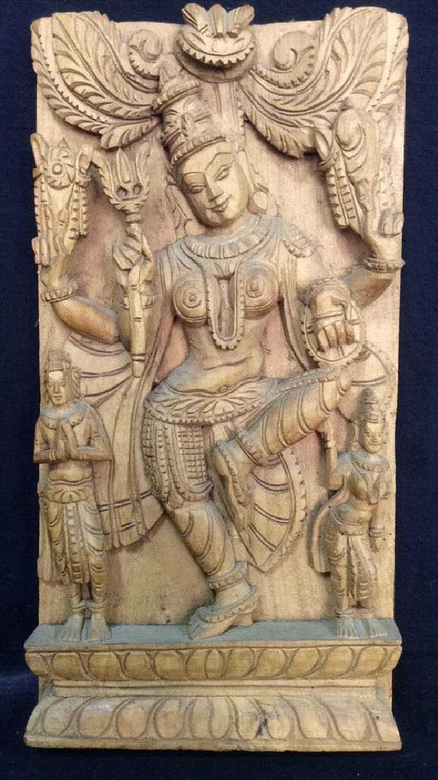 Wooden Shiva Dancing Buddha Carving