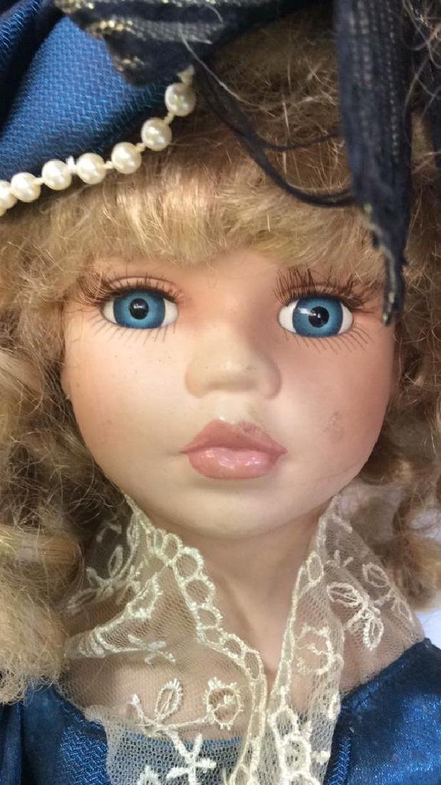 Antique Doll Hand Painted Bisque w Period Clothes - 10