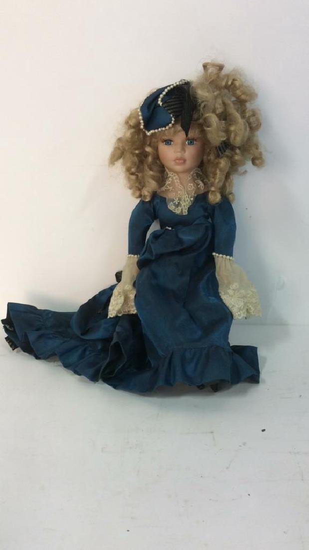 Antique Doll Hand Painted Bisque w Period Clothes