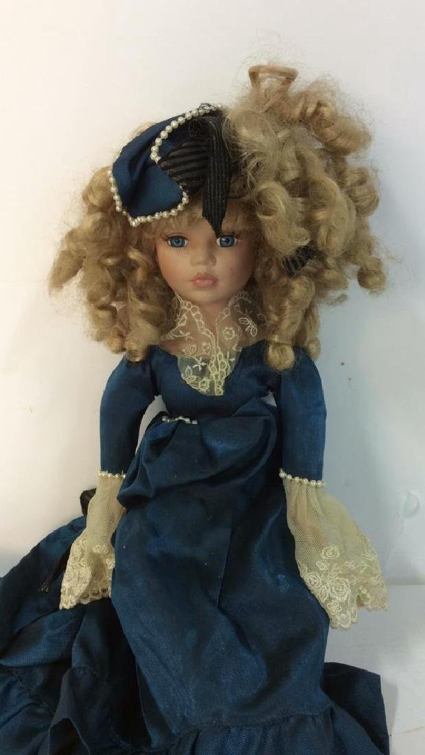Antique Doll Hand Painted Bisque w Period Clothes - 2